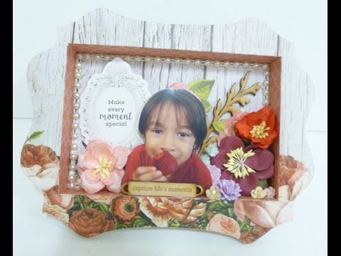 Off the page:DIY:Altered photo frame no.4 shadow box by SaCrafters