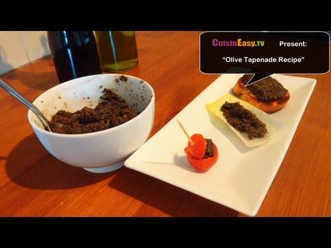 Vegetarian/Vegan Recipe – Black Olive Tapenade | Easy and fast