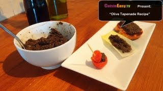 Black Olive Tapenade Recipe | Easy And Fast