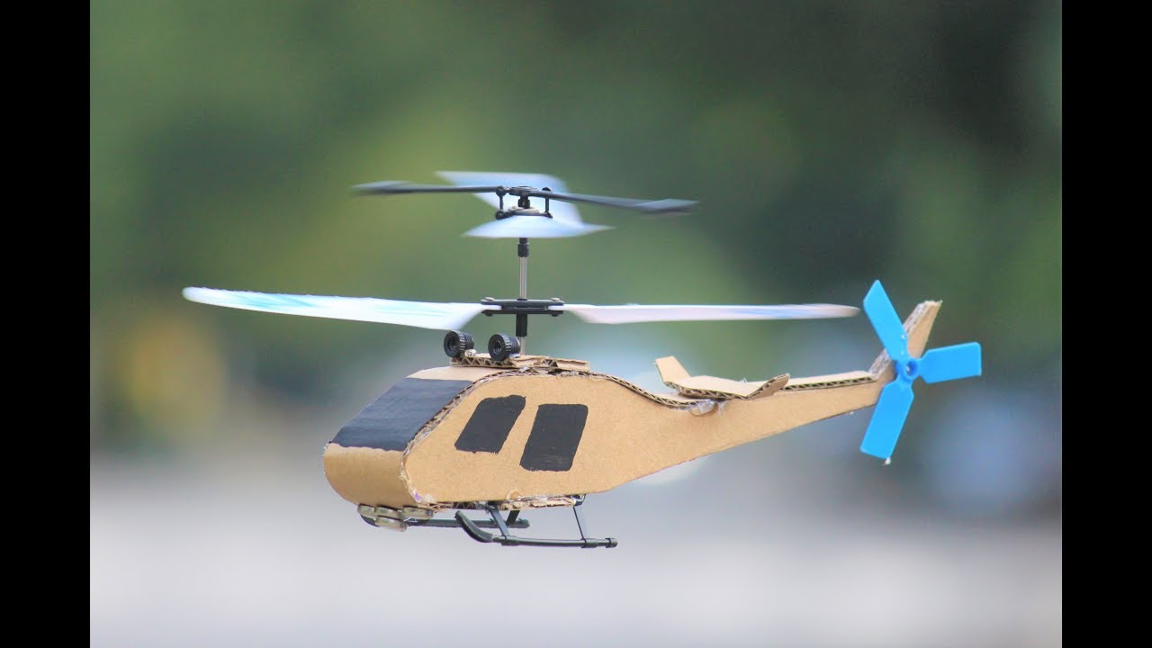 How To Make A Helicopter Cardboard Flying Helicopter