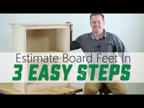 3 STEPS to Figure out BOARD FEET for a Woodworking Project