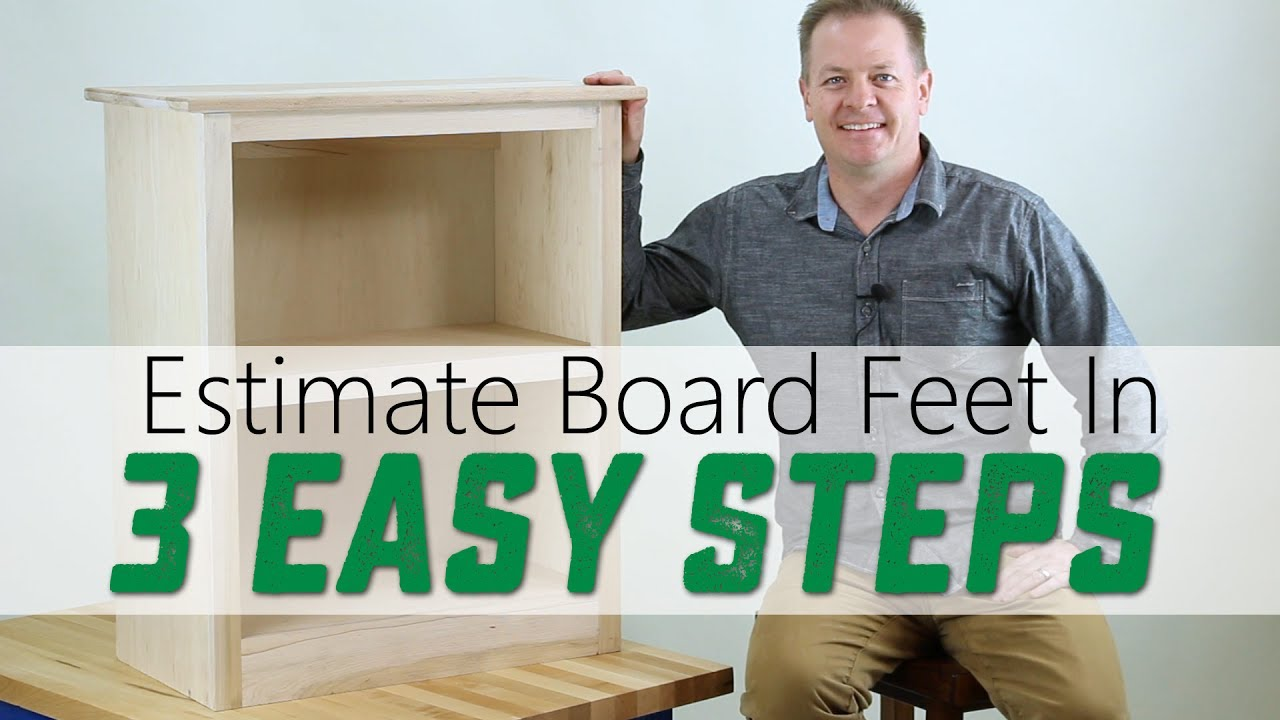 A Simple Table To Find The Board Feet Of Mon Lumber Sizes Is Ed Below