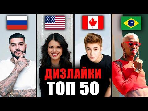 ТОП 50 мировых клипов по ДИЗЛАЙКАМ 👎🏼 | Самые задизлайканные песни за всё время | Зарубежные хиты