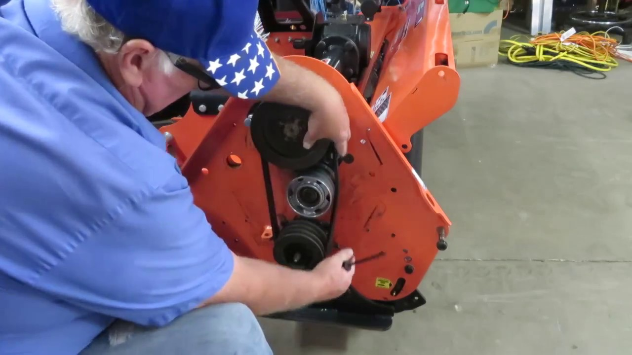 WoodMaxx FLAIL MOWER - idler pulley bearing Replacement and maintenance