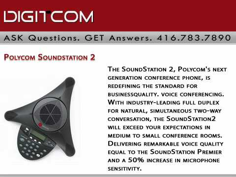 Polycom Soundstation 2 Digitcom.ca Business Phone Systems