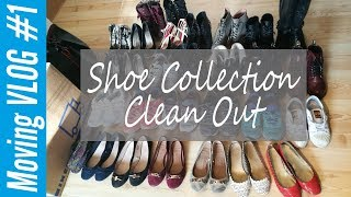 Shoe Collection Clean Out | Moving Vlog #1