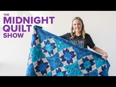 """Grotto"" Curved Illusion Flower Quilt 