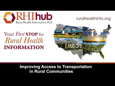 Improving Access to Transportation in Rural Communities