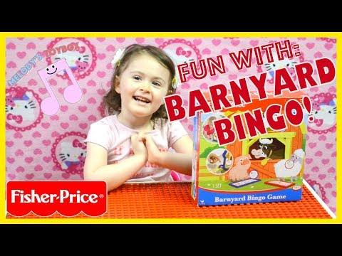 Melody's Toy Box: Playing With Fisher Price Barnyard Bingo Game!