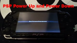 Sony PlayStation Portable PSP Power up and Down/ PSP Boot up and Down/ PSP Power up and Down