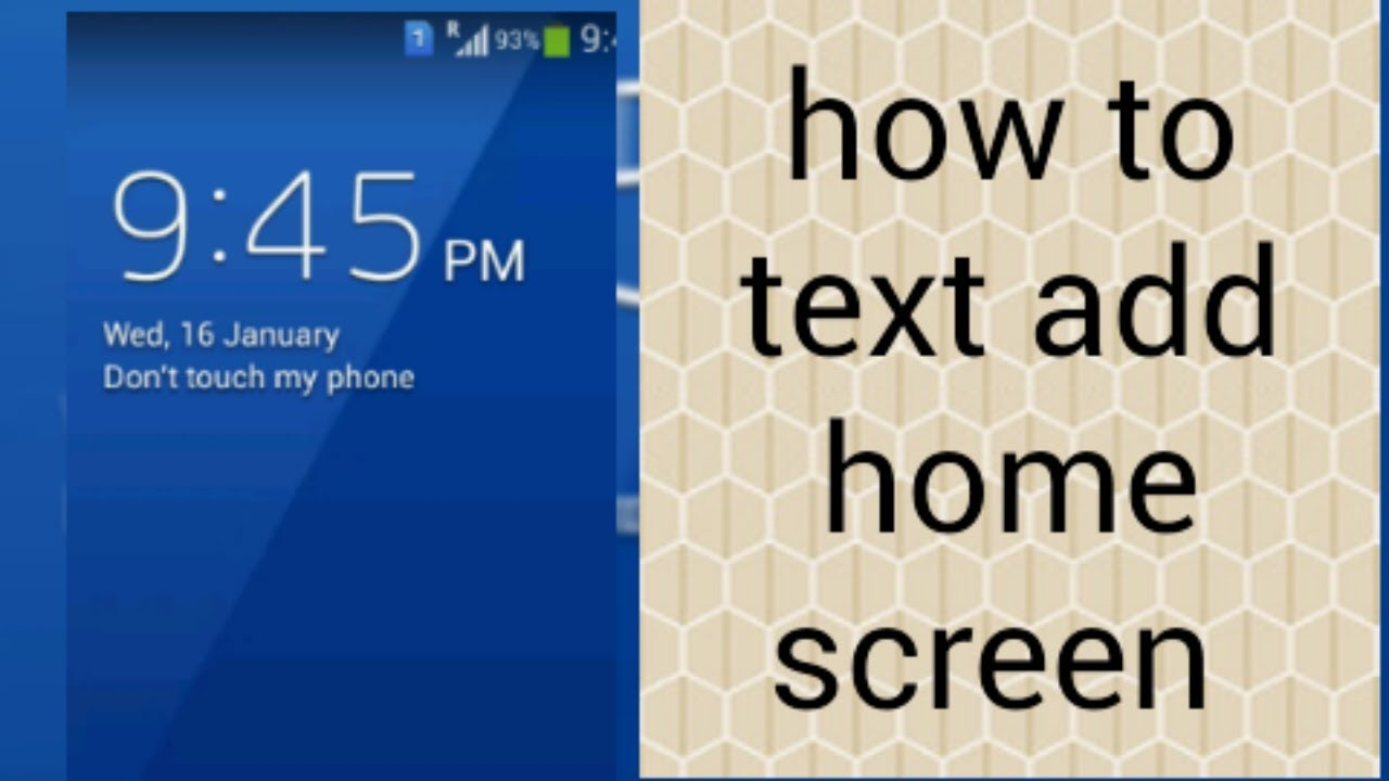 How To Add Text Home Screen How To Add Owner Information On Lock Screen In Android Phone 2019 Youtube