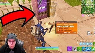 GOLD GUNS FROM PURPLE VENDING MACHINE GLITCH! (FORTNITE BATTLE ROYALE)