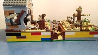 Lego окоп. Lego самоделка, на тему Вторая Мировая Война