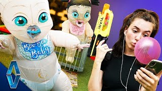 NERF Don't Get Caught By The Babysitter Challenge!