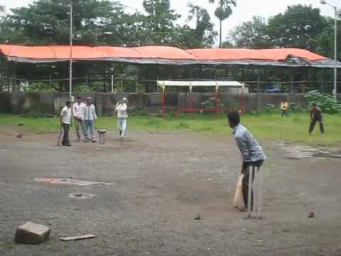 Game of Cricket in Bombay, India