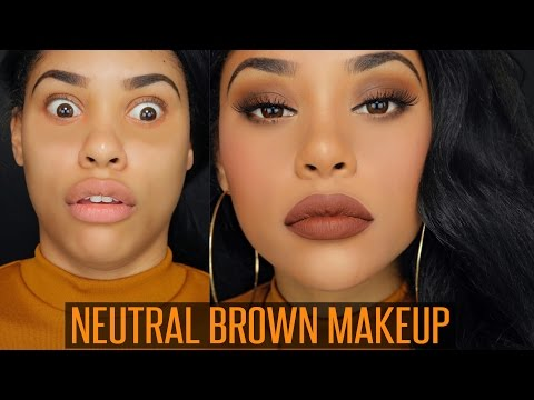 NEUTRAL BROWN MAKEUP