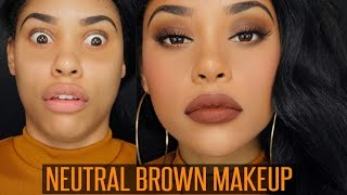One of ItsMyRayeRaye's most viewed videos: NEUTRAL BROWN MAKEUP