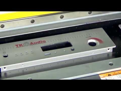 タカチ電機工業アルミパネルへのインクジェット印刷