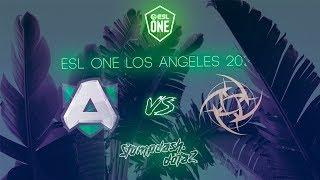 🔴ALLIANCE VS NINJAS IN PYJAMAS(NIP) | BO3 | ESL ONE LA ONLINE | GAME 3 START 23:40