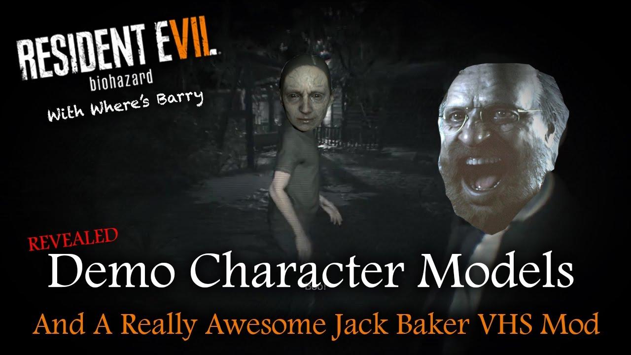 Resident Evil 7 Awesome Jack Baker Vhs Mod Demo Character