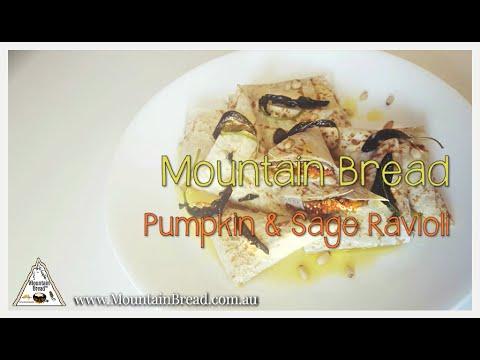 Mountain Bread™ – Pumpkin Ravioli with Sage Butter Sauce