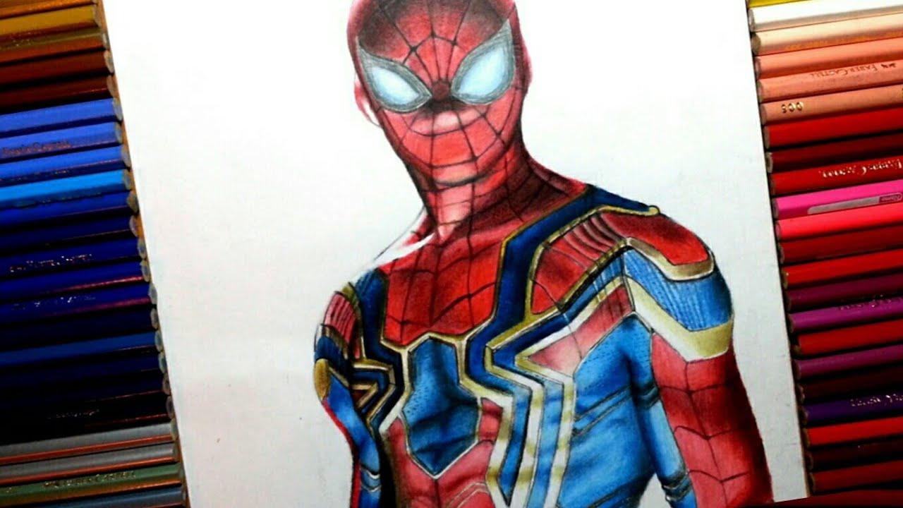 "Dibujos De Spiderman Para Pintar: Infinity Wars ""Iron Spider"