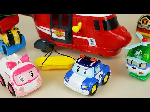 Thumbnail: Robocar Poli car toys Helicopter rescue and Tayo bus
