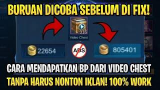 CARA MENGUBAH VIDEO CHEST MENJADI BATTLE POINT TANPA HARUS NONTON IKLAN - Mobile Legends Bang Bang
