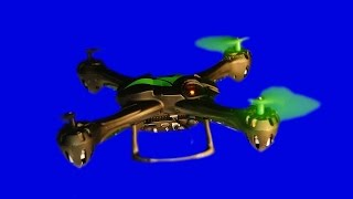 Drone flying on blue screen in 4K for your productions.