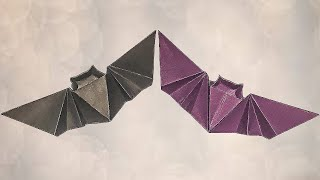 Easy Origami Bat | Origami Halloween Bat