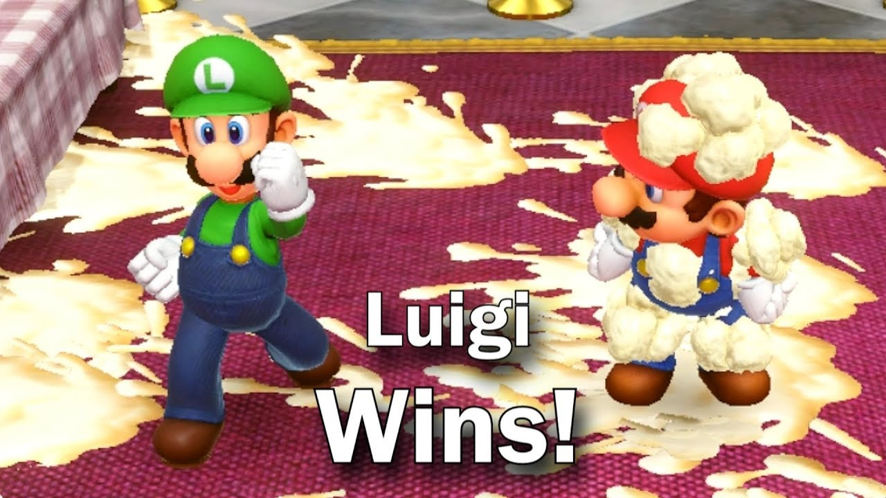 Super Mario Party - Luigi wins by doing absolutely nothing