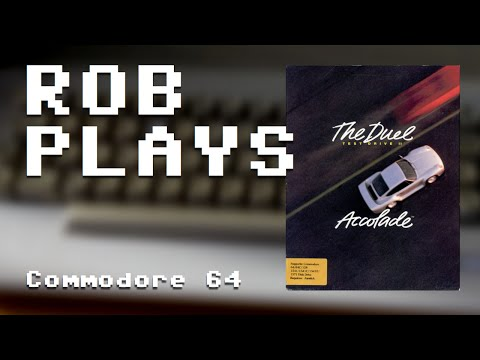 """Rob Plays """"Test Drive II"""" on Commodore 64 (Real Hardware)"""
