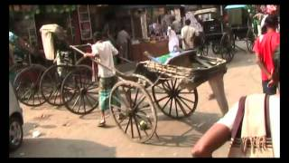 Rickshaw Ride in Kolkata,  India (Calcutta) - Pulled Rickshaw
