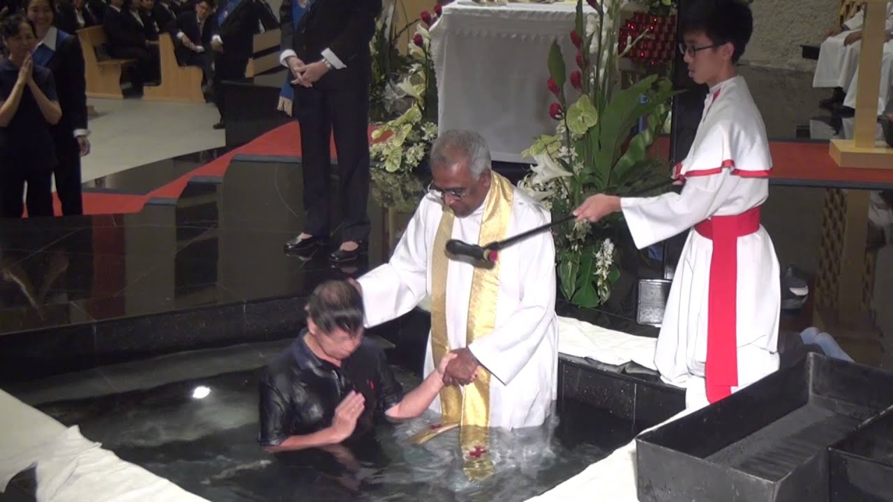 Adult Baptism Easter Vigil At Church Of Divine Mercy