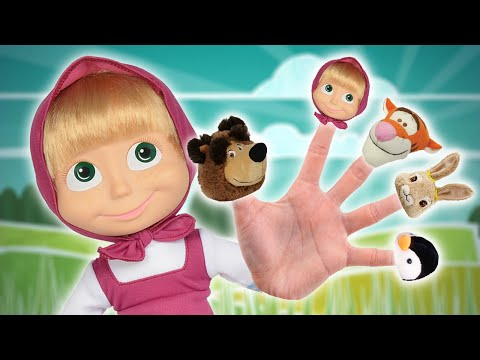 Thumbnail: Masha and the Bear Finger Family Song ★ English Daddy Finger Nursery Rhyme for Children and Babies