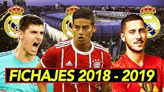 James, Hazard y Courtois al Madrid I Fichajes confirmados y rumores 2018 - 2019