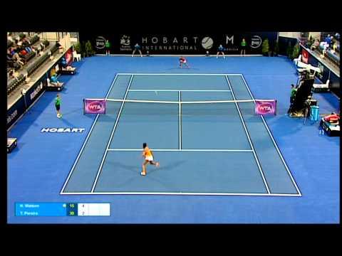 Heather Watson v Teliana Pereira full match (2R) | Hobart International 2016