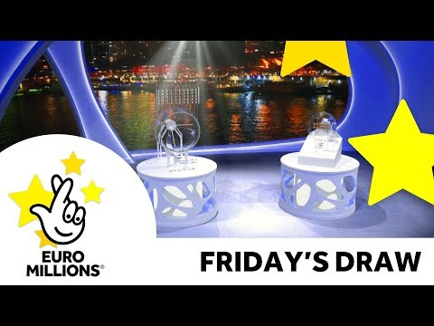 The National Lottery Friday 'EuroMillions' draw results from 24th August 2018