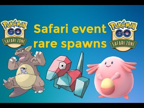 Pokémon go safari event rare spawns netherlands