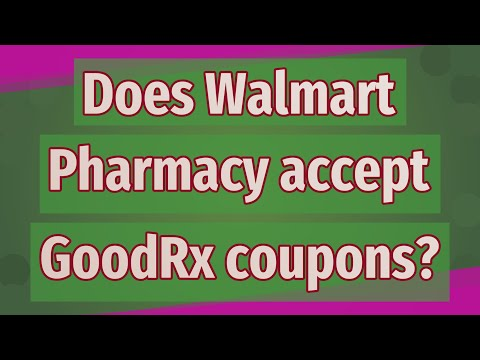Does Walmart Pharmacy Accept GoodRx Coupons?