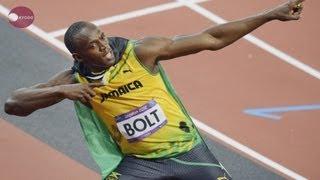 ボルトが金、ロンドン五輪 陸上男子100メートル thumbnail