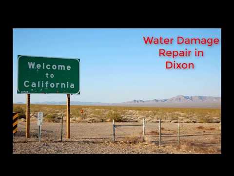 Water Damage Repair in Dixon Ca. Call 1-800-409-5441