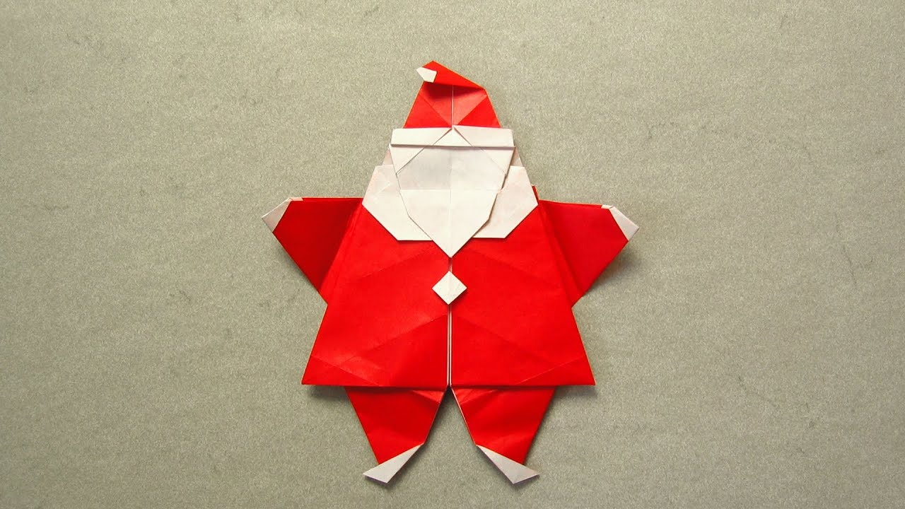 Christmas Origami Instructions Santa Peter Engel Youtube