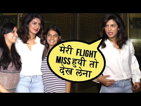 Priyanka Chopra Enjoys With Media As She Leaves For Ireland | Spotted At Mumbai Airport