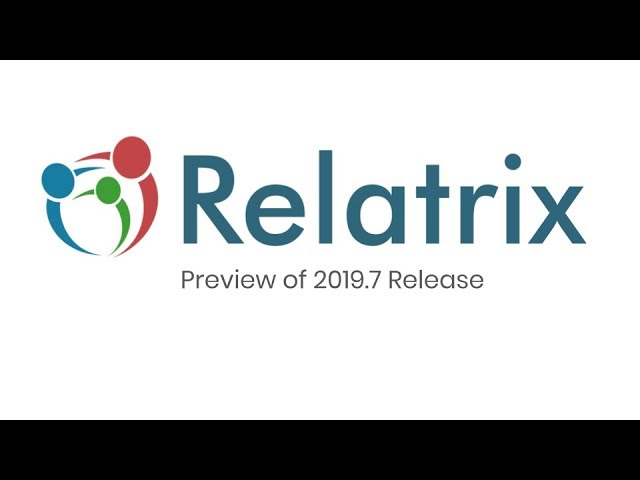 RELATRIX - Preview of 2019.7 Release