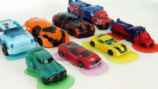 Transformers 8 Color Jelly Slime Monster Car Toys  트랜스포머 범블비 옵티머스프라임 젤리 괴물 자동차 장난감 변신 놀이