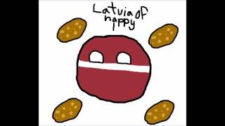 How To Draw Countryballs - How To Draw Latvia With Potatos!