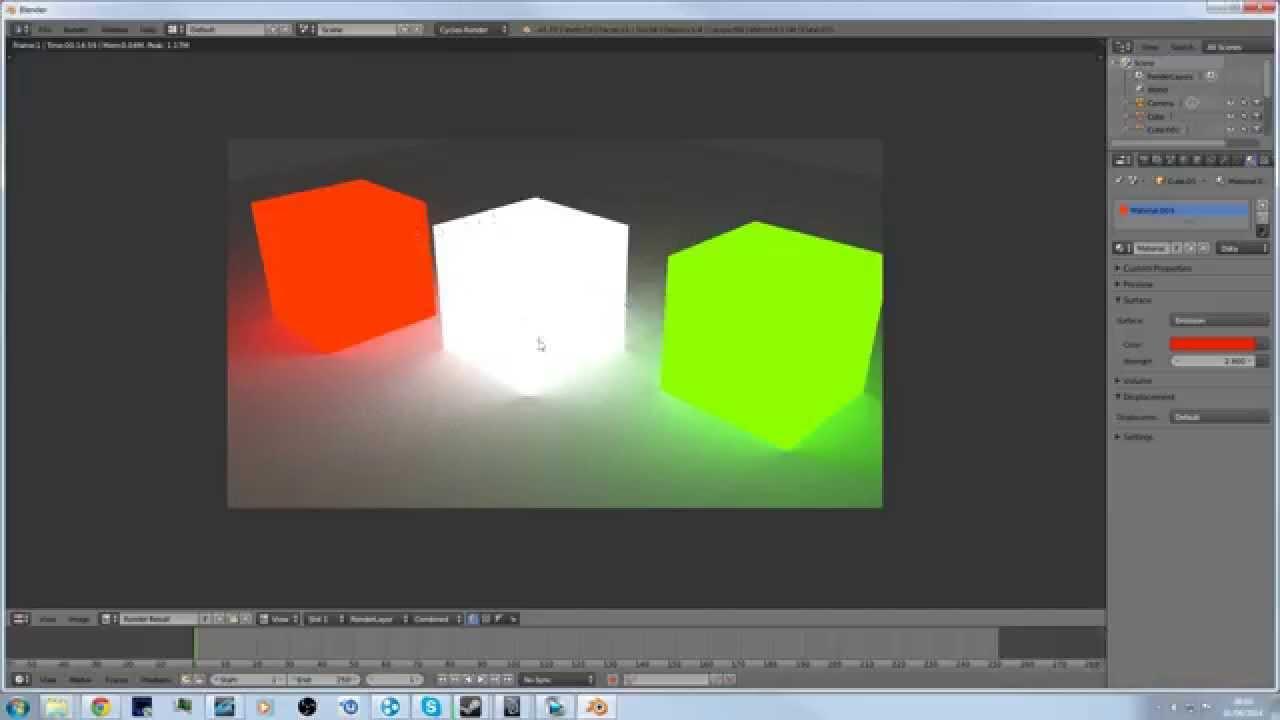 Blender tutorial: Make Object Emit Light (Cycles Render)