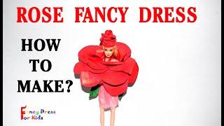 ROSE/how to make/gulab/handmade/fancy dress for kids costume/paper/DIY