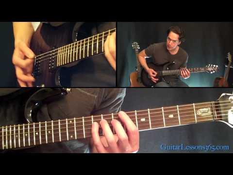 Fade To Black Guitar Lesson Pt.2 - Metallica - Distorted Rhythm Parts